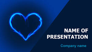 Heart Powerpoint Templates Download Free In Blue Heart Powerpoint Theme For
