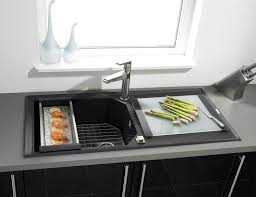 single bowl kitchen sink composite with drainboard