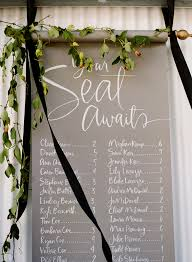 Calligraphy Wedding Seating Chart 10 Chic Ideas To Display Your Wedding Seating Chart Escort