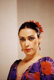 flamenco dancer after makeup and hair
