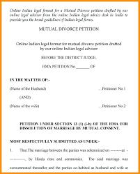 Divorce Notice Format Adorable Resume 44 Format 44 Divorce Notice Format In Resume Language Resume