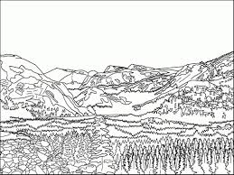 Small Picture Mountain Coloring Page glumme