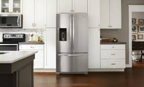 A French door refrigerator splits the fresh food compartment door in half,  making it easier to open in smaller kitchens. All French door refrigerators  have ...
