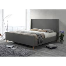 luxeo bedford king upholstered platform bed in grayluxkwgry