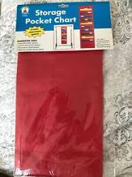 Teacher Chart Storage Details About Teacher Supplies Carson Dellosa Storage Pocket Chart New