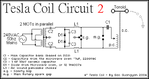 tesla coil 2 loneoceans laboratories arsg 4 2kva telsa coil here s the plan for the power supply i have 2 similar mots in parallel from a 240v 15a 50hz outlet the secondaries are in series and both cases are