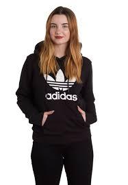 adidas girls. adidas - trefoil logo hoodie girls