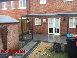 new high gloss slabbed patio driveway