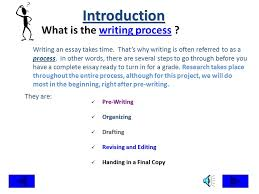 essay on writing process master thesis chapter structure la salle university procedural