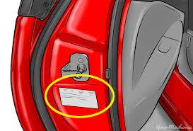 manufacturer info in door jamb