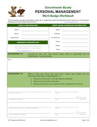 Personal Management Merit Badge Workbook