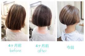 白髪染めデザインカラーショートヘアー理想のヘアスタイルは1度