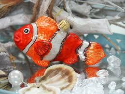Christbaumschmuck Glas Clownfisch Fisch Tiere Meer Orange