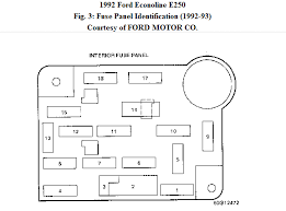 1992 ford e 250 relay box diagram van repair manual dealership