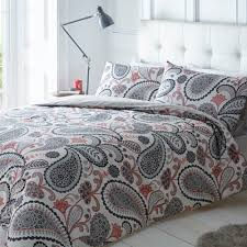 pieridae paisley complete shell pink duvet quilt bedding cover pillowcase and fitted bed sheet bedding set duvet sets complete bedding sets bed sheets