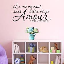 wall sticker sayings romantic french sayings wall sticker quotes removable vinyl art home decor wall decal