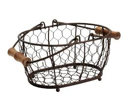 rustic wire basket chandelier fruit brown mesh small oval in p