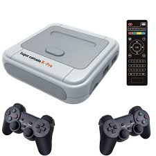Super Console X Pro Video Game Consoles For PSP PS1 N64 Build-in 50+  Emulators 50000 Games TV Box With Dual System & Contollers - Flash Sale  #5210EE