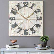 white rustic farmhouse wall clock 3 stratton home decor