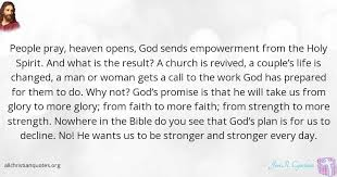 Empowerment Quotes 73 Inspiration Jim R Cymbala Quote About Church Holy Spirit Pray Stronger