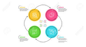 Pie Chart Check Article And Architectural Plan Icons Simple
