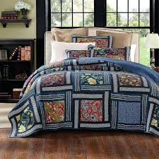blue paisley bedding brown