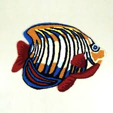 fish shaped rug a b crew fish shaped memory foam mat rug