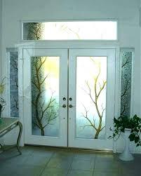 etched glass front doors etched glass front doors s door inserts dustudioco etched glass double front