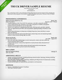 Truck Driver Resume Examples Truck Driver Resume Sample Stuff