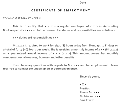 Sample Certificate Of Service Template Adorable Employment Reference Letter Template Canada
