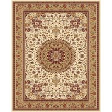 style selections ecklar cream indoor oriental area rug common 8 x 10 actual