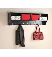 How High To Hang A Coat Rack 100 Inch Hanging Shelf with Coat Hooks in Wall Coat Racks 76