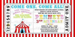 Invitation Ideas Free Circus Birthday Invitations Printables
