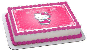 Hello Kitty Character 1 Birthday Cake Or Cupcake Topper Edible