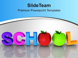 Ppt Templates Education Word School With Apples Education Powerpoint Templates Ppt Themes