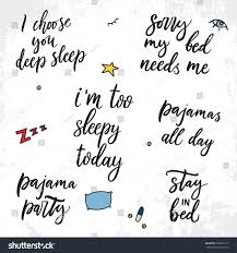 Set Vector Sleep Quotes Vector Illustration Stock Vector Royalty