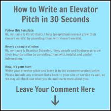 30 Sec Elevator Speech Elevator Pitch In 30 Seconds Words Types Writings