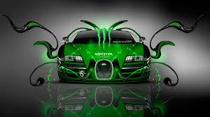 monster energy bugatti veyron front plastic car