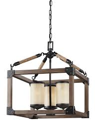 dunning three light chandelier