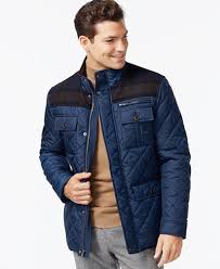 Cole Haan Mixed Media Quilted Jacket - Coats & Jackets - Men - Macy's & Cole Haan Mixed Media Quilted Jacket Adamdwight.com
