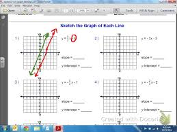 common core math graphing linear equations with an initial value