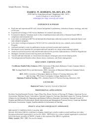 Resume For Graduate Nurse Registered Nurse Resume Sample