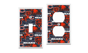 How To Add An Outlet To A Light Switch Amazon Com Chicago Bears Light Switch Cover Your Custom