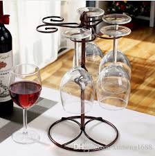 2019 wine glass rack kitchen bar cup hanging holder metal goblet display stand drinking glasses stemware rack bar accessories from xumeng1688