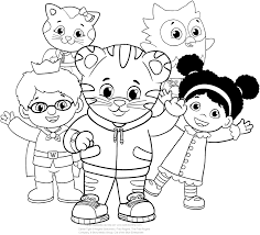 Small Picture Daniel Tiger and his friends coloring pages