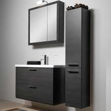 black bathroom wall cabinet idea