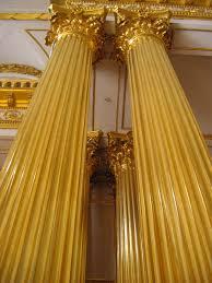 gold pillar columns home decor pinterest columns