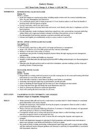Sales Manager Resume Hotel Sales Manager Resume Shalomhouseus 67