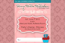 birthday invitation wording trend 17th birthday invitation ideas