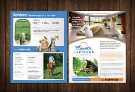 brochure design for liz hyatt by meet design  brochure design by meet007 for pet sitting business brochure design 3705528